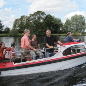 Padmaloka navy on exercise in the Yare valley