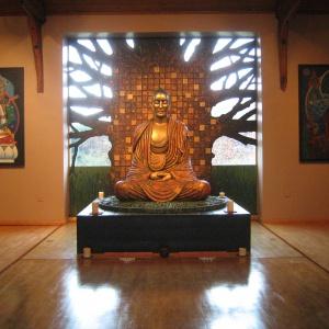 The Buddha under the Bodhi tree Padmaloka style