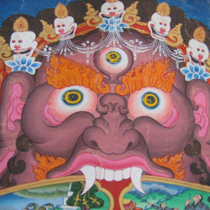Yama, the demon of impermanence, from a Wheel of Life at the West London Buddhist Centre