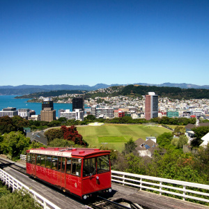cable car from city to botanical gardens