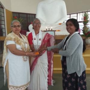 Dhni Shubhajaya. Dhni. Abhayvati and Dhni. Prashanti