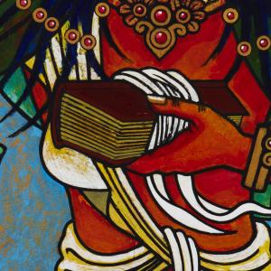 Mañjughosha by Āloka from the Padmaloka shrine room