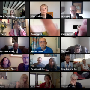 The Adhisthana Q&A during the Online International Buddha Day Celebrations hosted by the buddhist centre online