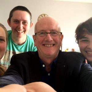 Deborah, Kate and Caroline with visiting study leader Kamalashila
