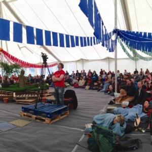 Shrine tent talk