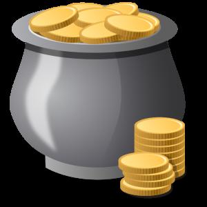 A pot of money!