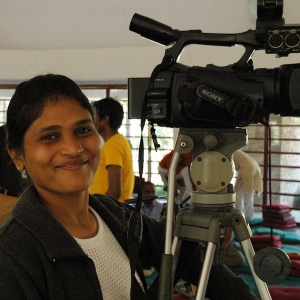 Neha filming at NNBY