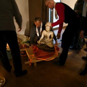 arrival in new shrine room