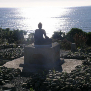 Looking out to sea at the Golden Bay where ordinations happen in New Zealand