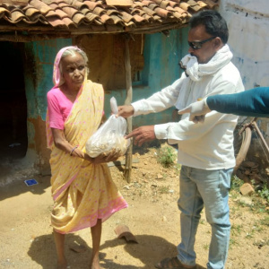 helping at Pavnar Khari Village