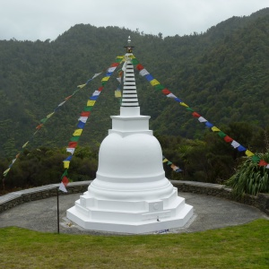 Stupa with some of Dhardo Rimpoche's ashes located at Sudarshanaloka