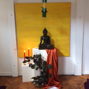 Shrine at the Amsterdam Buddhist Centre