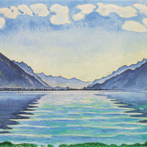 Ferdinand Hodler, Lake Thun, Symmetric reflection (1905)