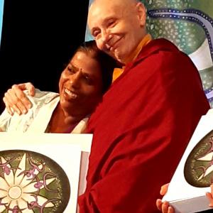 Karunadeepa with Jetsunma Tenzin Palmo
