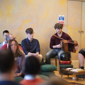 At the London Buddhist Centre, the living presence of the Buddha was evoked through music, meditation and stories. Photo: Sam Roberts / Louise Hall