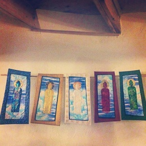 Five Colourful Buddhas