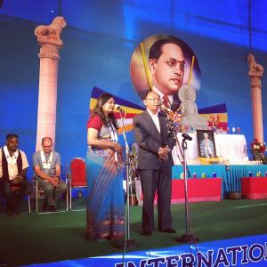 Presentation to N Dorje, friend of Sangharakshita and Triratna