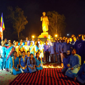 Abhayaraja led the Buddha day celebrations at Nagaloka, Nagpur in India