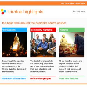 Triratna Highlights newsletter