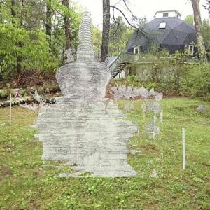 Artist's impression of the stupa